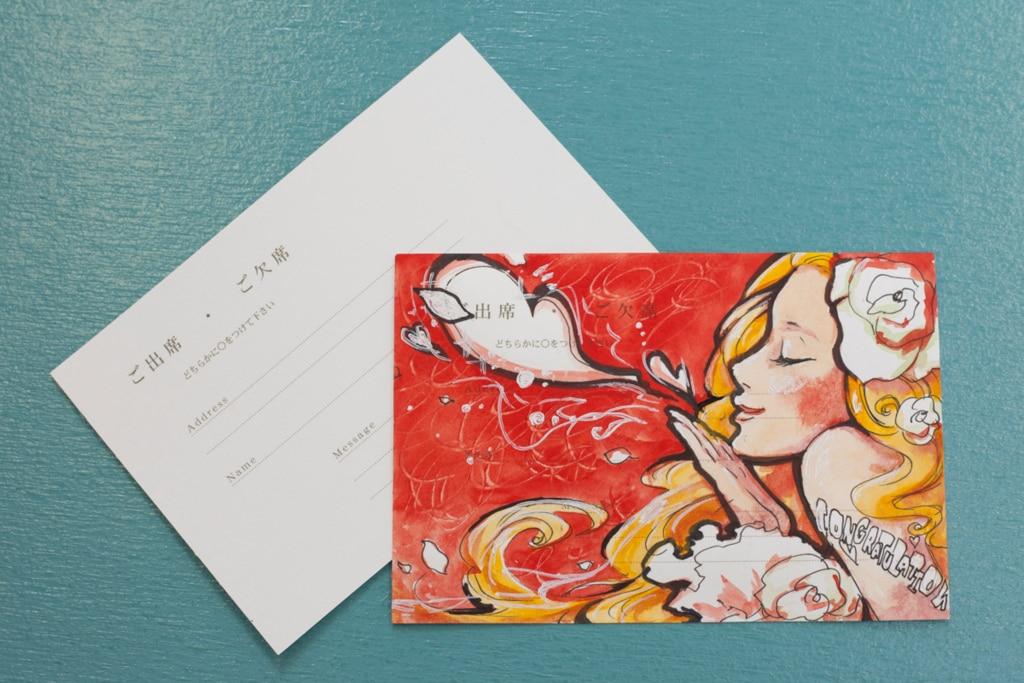 超美技】結婚式の招待状を美大生が返信したらどうなるか