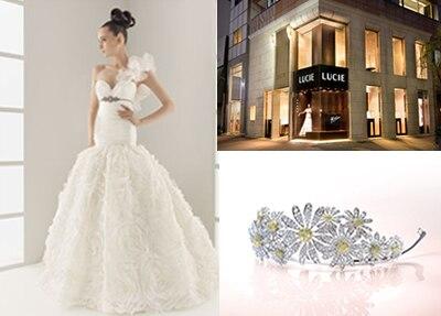 豪華なジュエリー&インポートドレスと、一流スタッフの手で最高の花嫁に変身!