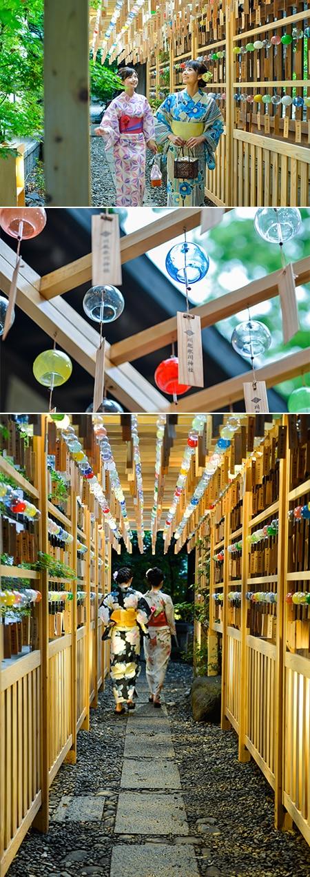 夏の人気祭事「川越氷川神社 縁むすび風鈴」が今年も開催! 風鈴との幻想的なウエディングフォトプランも登場