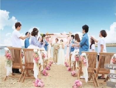 エスクリ初となるビーチ挙式プランが誕生! セントレジェンダOKINAWA 「幻のビーチウェディング」