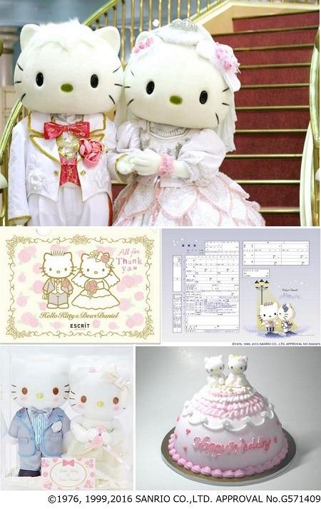 キティちゃんとダニエルくんが結婚式の人気演出に挑戦! 記念撮影やハローキティグッズがもらえるブライダルイベント開催