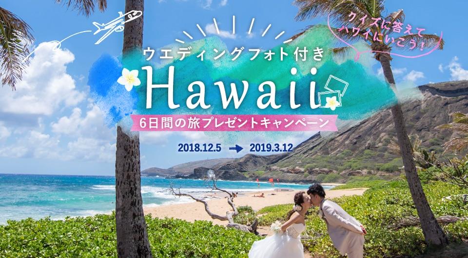 ウエディングフォト付き Hawaii6日間の旅プレゼントキャンペーン