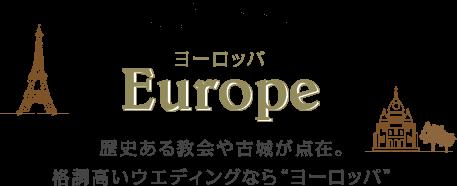 ヨーロッパ(Europe) 歴史ある教会や古城が点在。格調高いウエディングなら