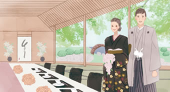 料亭×日本庭園 粋な和ウエディング
