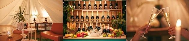開放的な空間でスパークリングワインとアペリティーボが楽しめる♪ 「MARTINI Holiday Lounge」が東京ミッドタウンに期間限定オープン
