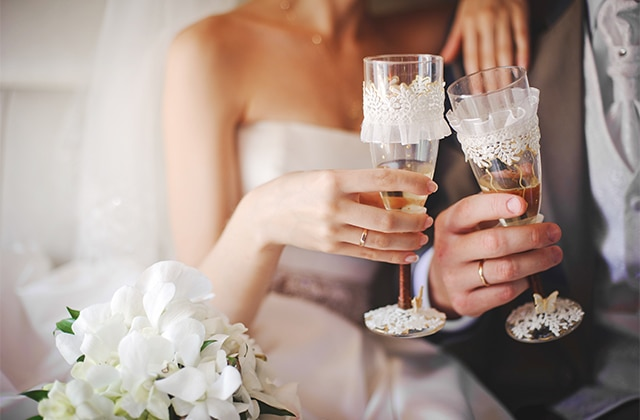 Свадебные фужеры для 36