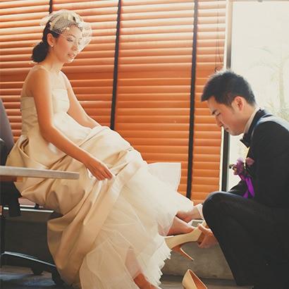 ノーブルかつエレガントなドレス姿で迎えた憧れの一日