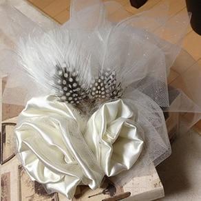 """世界に""""たったひとつ""""友人手作りのヘッドドレス"""