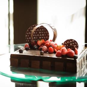 ジュエリーのように美しいブルガリオリジナルのウエディングケーキ