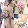 ドレスや会場装花に合わせてブーケもコーディネート