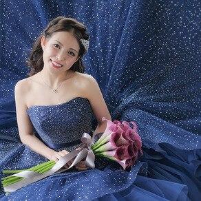 甘さと大人っぽさのバランスが絶妙なお色直しのカラードレス