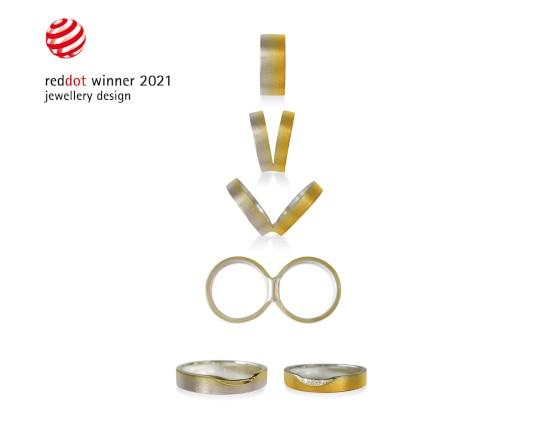 「杢目金屋」の結婚指輪「つながるカタチ グラデーション」がレッドドットデザイン賞2021を受賞!