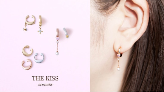 「THE KISS」から、ピアス穴がなくてもピアスを飾って着けられるイヤリングが発売