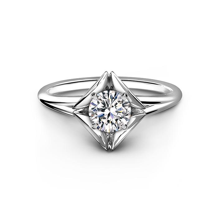 ソリティア婚約指輪