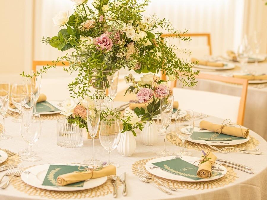 披露宴 装花 テーブルコーディネートのフォト 写真20枚 二条城