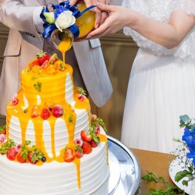 大人可愛いドリップケーキ