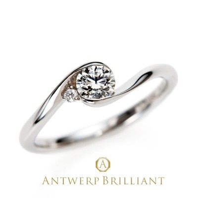 """Full Moon"" Diamond Rim Setting Ring"