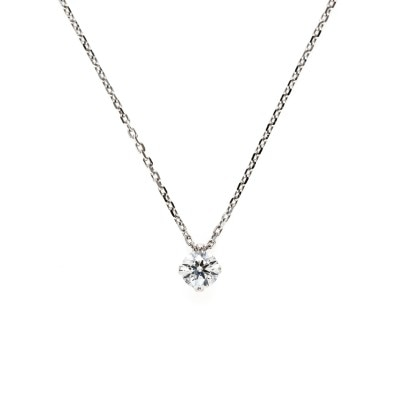 """Sirius"" 4 Claws Collet Daimond Petit Necklace"