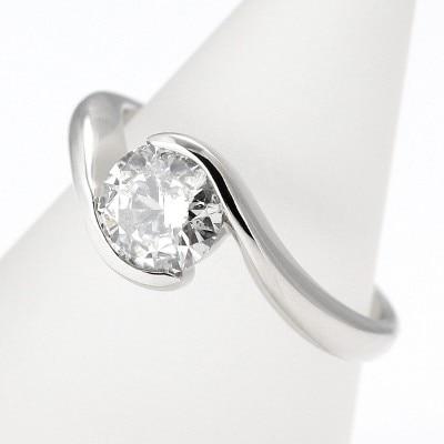 f84c46eb95 1カラット ダイヤモンド ANYBELLE プラチナリング 婚約指輪 エンゲージ ...