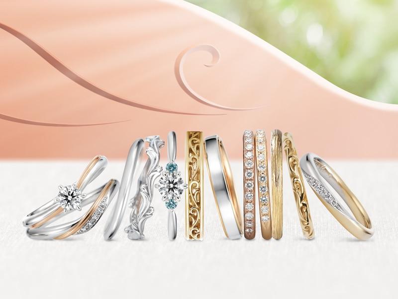 c75e72dd51 店内には数百種のケイウノ オリジナルコレクションの指輪がずらりと並び、試着しながらコンシェルジュと「どういう指輪が似合う?」「普段使いに邪魔にならない指輪は?